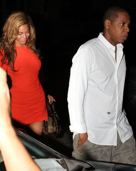Beyonce and Jay-Z were celebrating three years of marriage