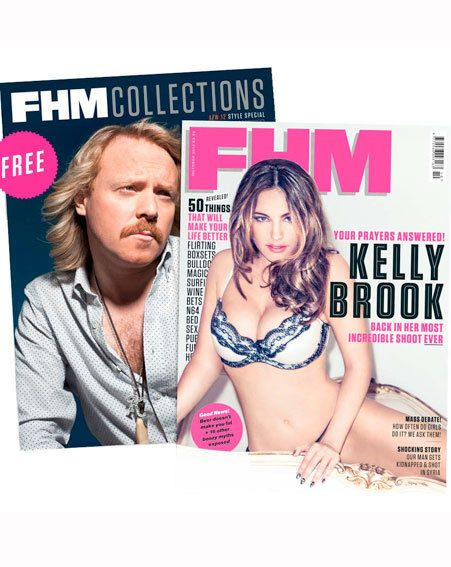 Check out the full interview with Kelly Brook in FHM Collections, free with this month's issue
