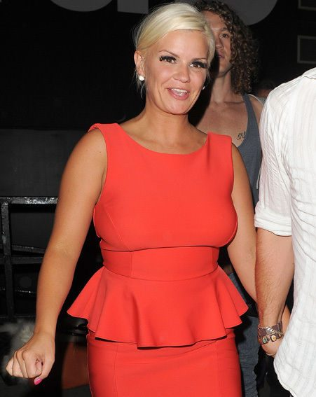 Kerry Katona and Jasmine Lennard sparred when the brunette left the CBB house