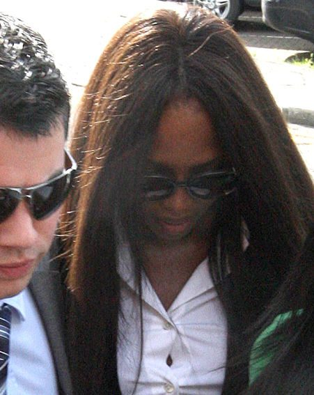 Naomi arrives at the court hearing today