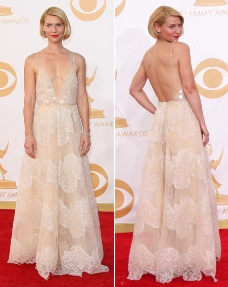 Emmy Awards 2013: Claire Danes risks nipple slip in low ... Claire Danes Salary