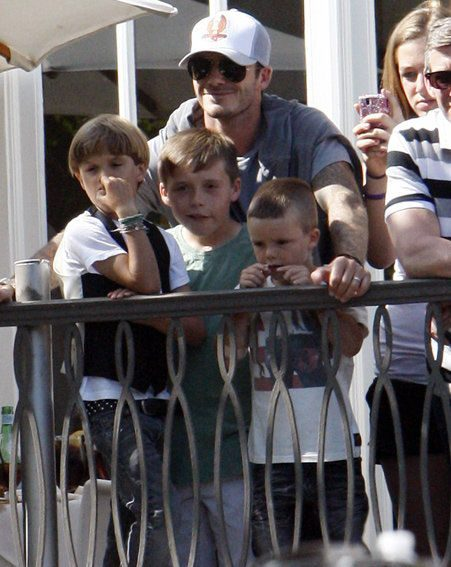 David Beckham apparently bought £200 worth of British sweets for his sons