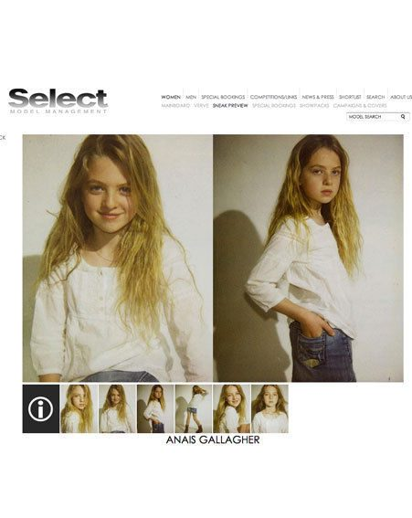 Anais turns 12 at the end of January, but already has a blossoming modelling career