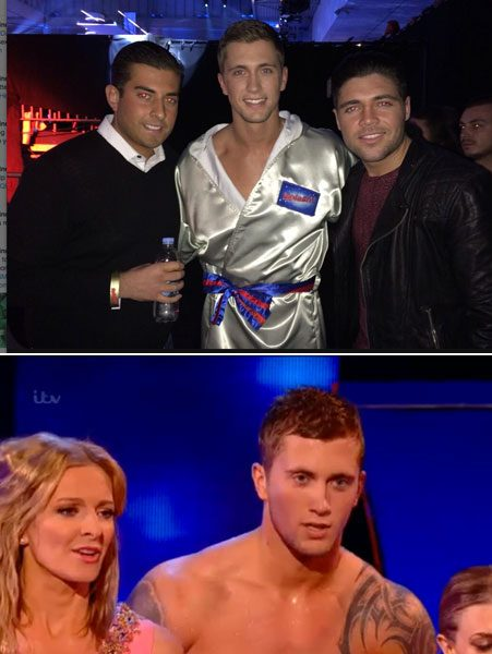 Towie stars James 'Arg' Argent and Tom Pearce showed their support for Dan and attended the final