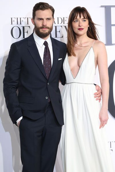 Jamie Dornan and Dakota Johnson play Christian Grey and Anastasia Steele in the big screen adaptation
