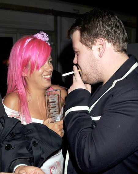 Lily with rumoured love interest James Corden