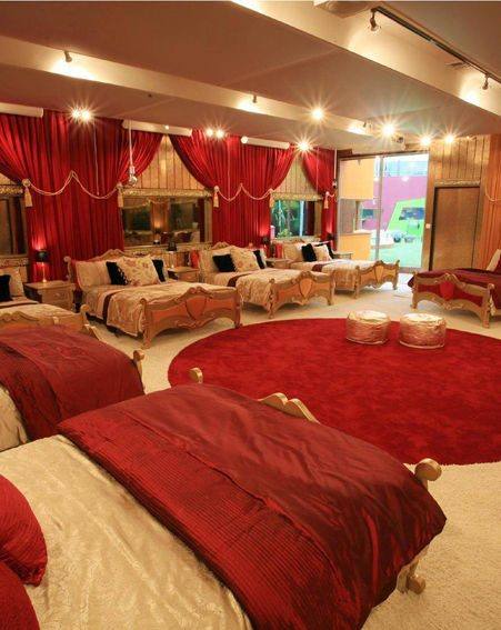 The luxury bedroom inside the new Big Brother house
