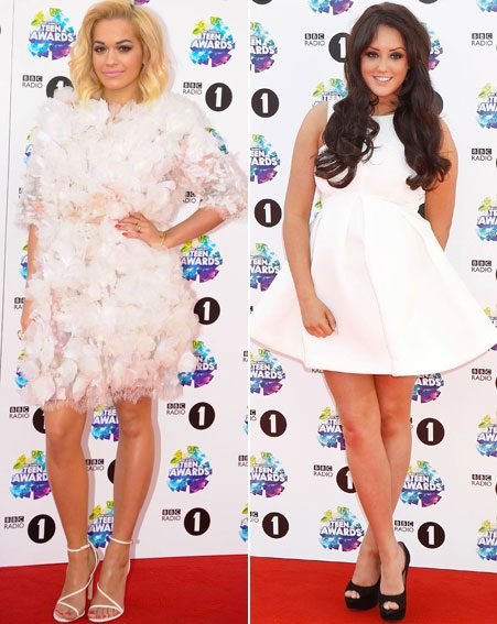 Rita Ora and CBB's Charlotte Crosby both attended the event in white