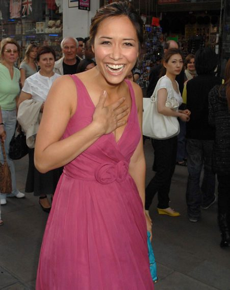 Myleene looked stunning as she spoke exclusively to OK!