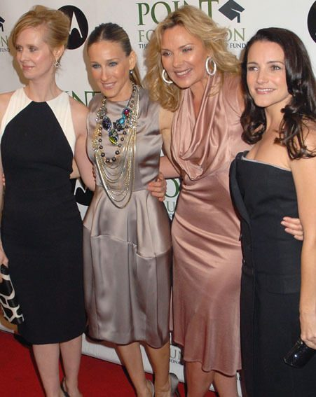 The girls were in town for the world premiere of SATC