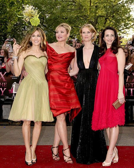 The fabulous four on the red carpet in Leicester Square