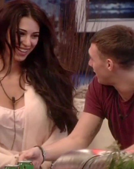Kirk Norcross chats up Georgia Salpa in the Celebrity Big Brother house