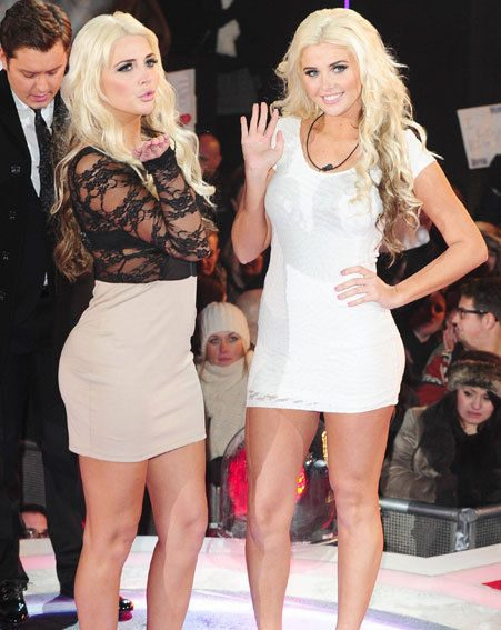Playboy twins Kristina and Karissa Shannon made a scene as they entered the house