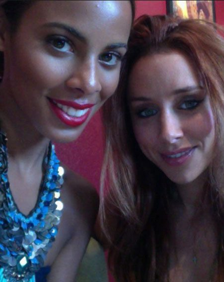 Rochelle Wiseman and Una Healy looked gorgeous as they hit the studio in L.A.