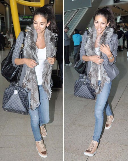 Georgia Salpa wore a very casual outfit as she stepped out at Dublin airport in no make up