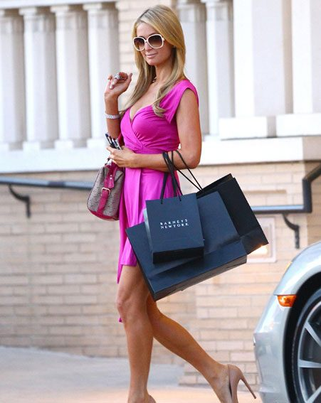 The American socialite channeled her inner Elle Woods in the pink ensemble
