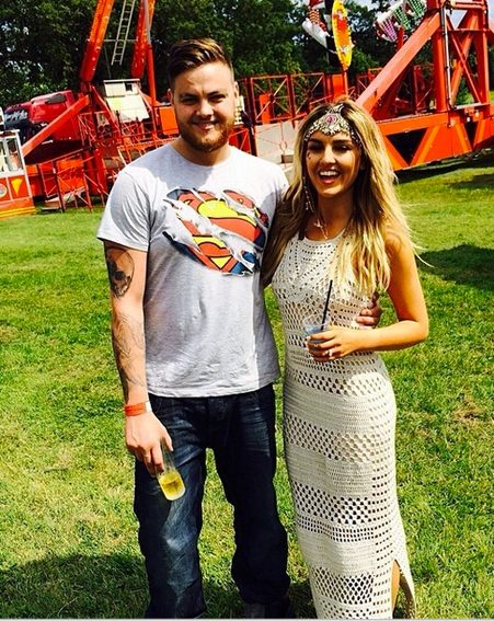 Perrie poses up with her older brother who travelled down from her native South Shields