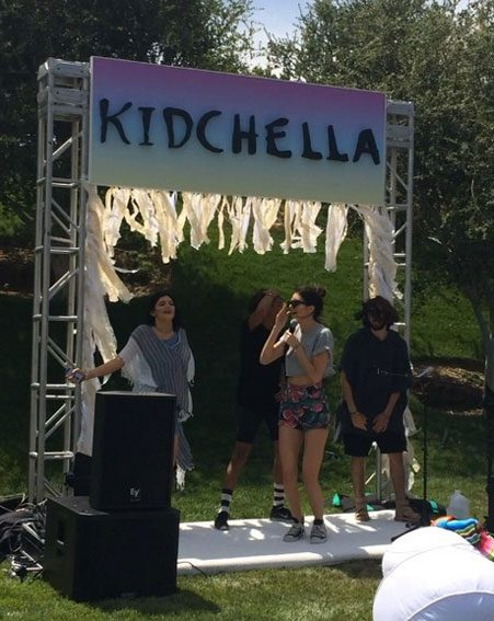 Kendall Jenner performed for her niece