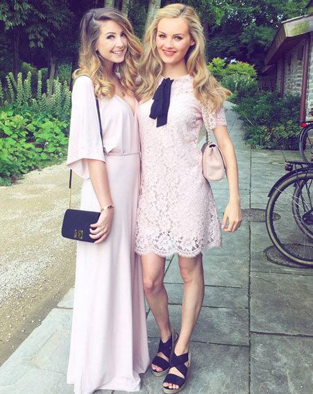 Zoella was a guest at the big day