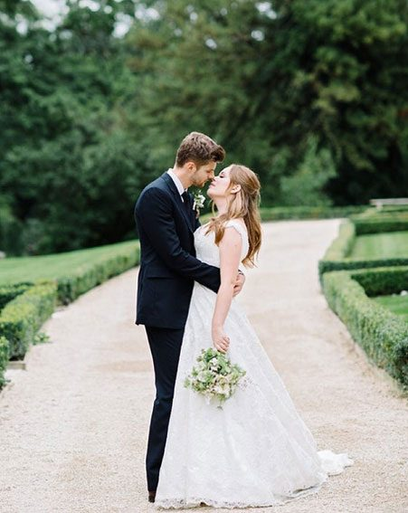The couple tied the knot at Babington House in Somerset