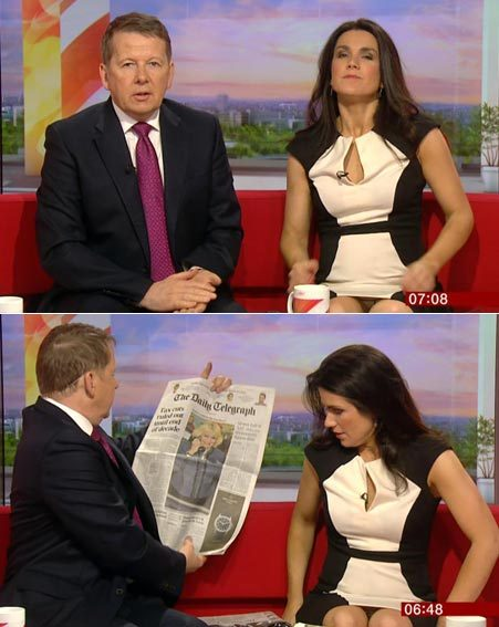 Susanna Reid seemed unaware that the nation could see her undies