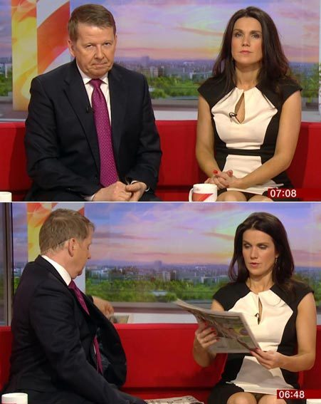 Unlucky Susanna had a Basic Instinct moment this morning