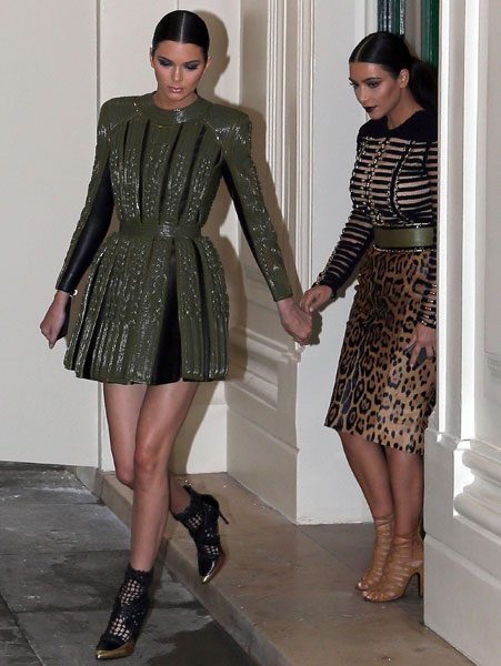 Kim Kardashian jetted to Paris to support her sister on her Haute Couture adventures