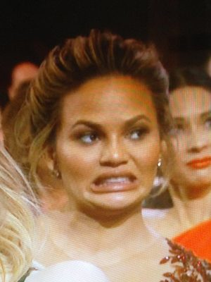 Chrissy Teigen looked absolutely horrified
