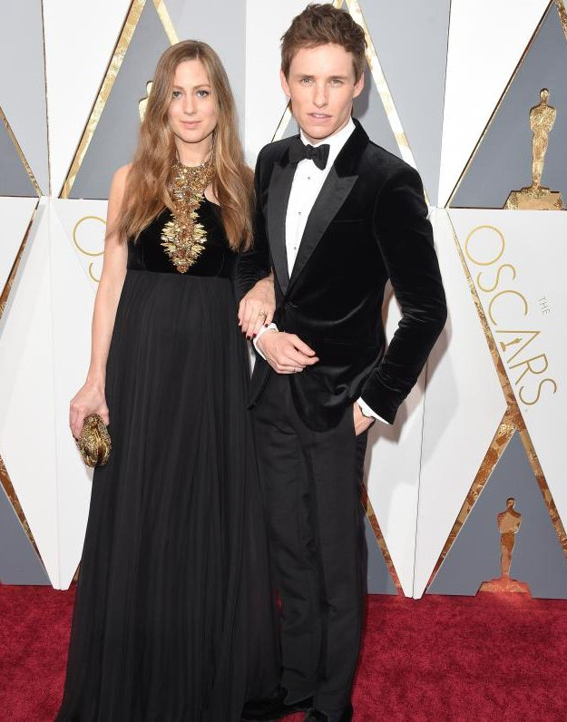 Eddie Redmayne walked the red carpet with his wife Hannah Bagshawe