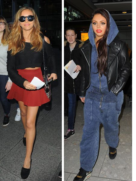 Jade Thirwall and Jesy Nelson were also spotted arriving at Heathrow airport