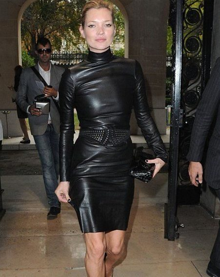 Trilbey is desperate for a tight leather dress, like this one worn by Kate Moss in Paris