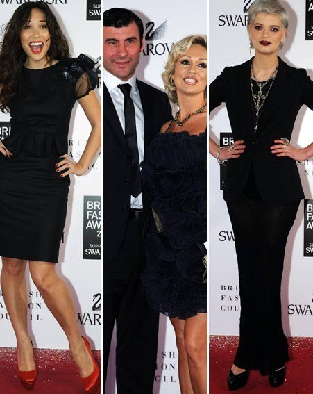 British Fashion Awards: Myleene Klass/Joe Calzaghe and Kristina Rihanoff/Pixie Geldof