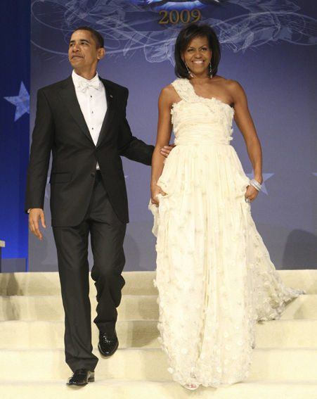 SOPHISTICATION: All eyes were on Michelle at the ball