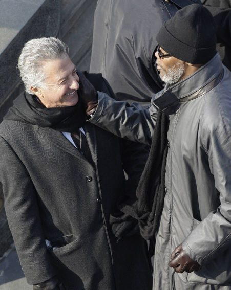 Dustin Hoffman and Samuel L. Jackson join the millions of people watching Obama's speech