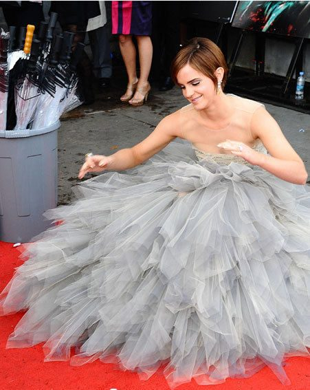 Emma Watson wore a designer gown with sheer body panelling much to the delight of onlookers