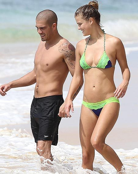 Max George and Nina Adgal show off their hotness on the Caribbean beach