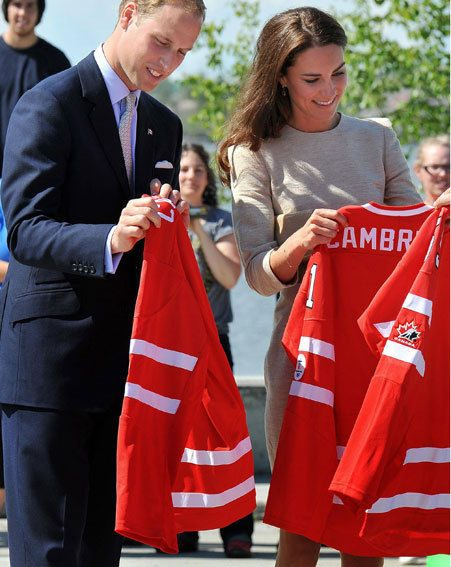Kate Middleton and Prince William have been getting to grips with hockey in Canada