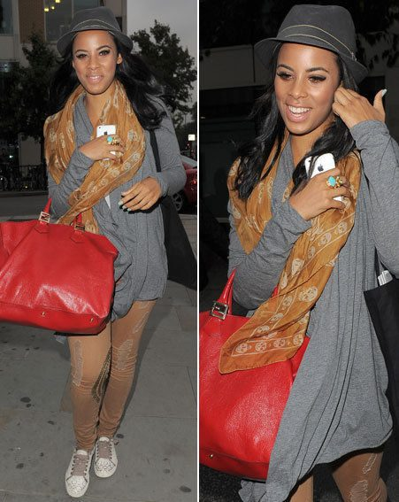 Rochelle Wiseman was all smiles as she left the building in London