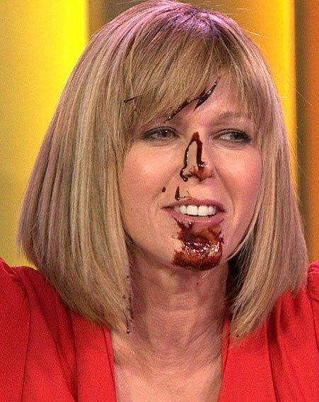 Kate Garraway got covered in chocolate on Daybreak this morning