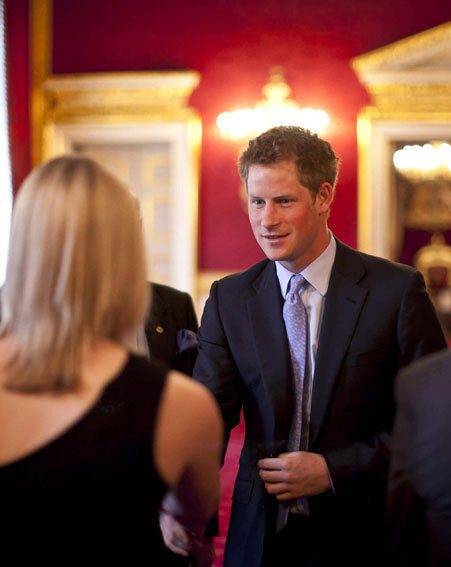 Guests did their best to schmooze with Prince Harry without drooling yesterday