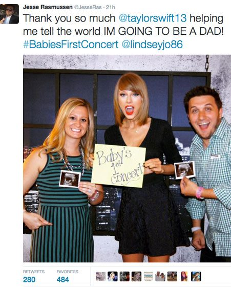 Taylor Swift helped a couple with their cute pregnancy announcement