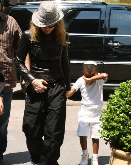 Madonna currently has two adopted children - David and Mercy