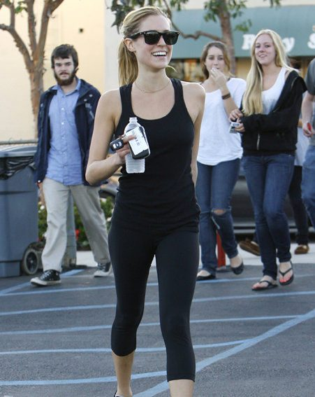 Actress Kristin Cavallari keeps fit by going running