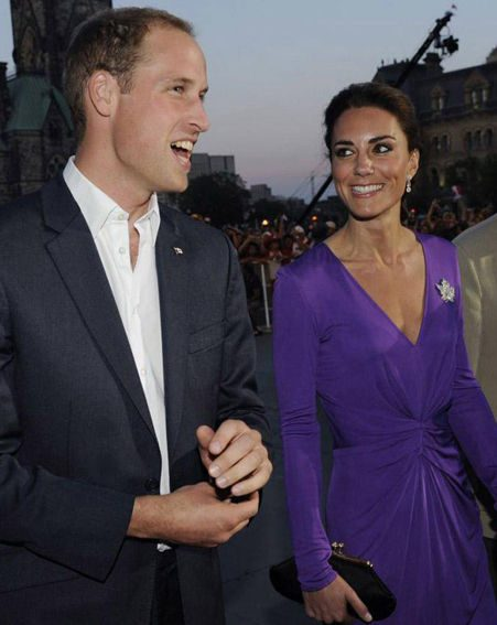 Prince William and Kate Middleton attend the Canada Day's Evening show