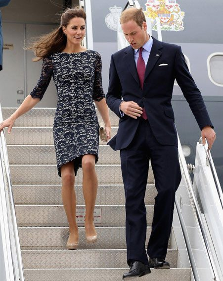 Kate Middleton and Prince William landed in Canada yesterday evening