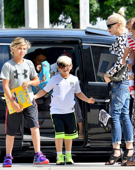 Gwen and her 3 children seemed in high spirits as they were spotted out together for the first time since it was announced she and Gavin Rossdale had split