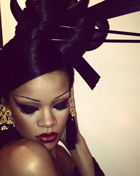 Rihanna posts this picture from her dressing room on the set of Coldplay's Princess of China video