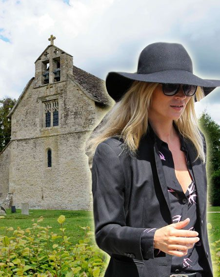Kate Moss and Jamie Hince are getting married in the Cotswolds today