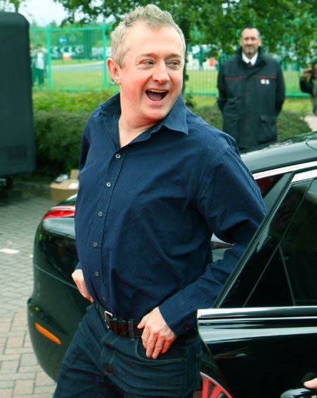 Louis Walsh was chuffed at the reception at X Factor auditions in Cardiff