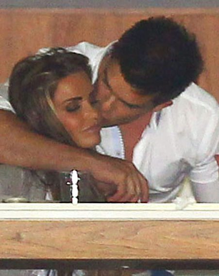 Katie and Leandro Penna's display of affection meant all eyes were on them